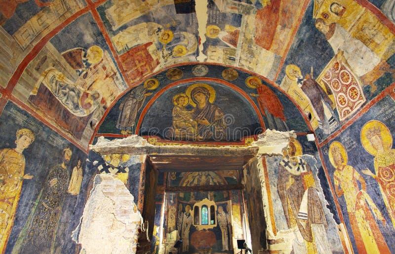 Iglesia interior de Boyana de las pinturas foto de archivo libre de regalías