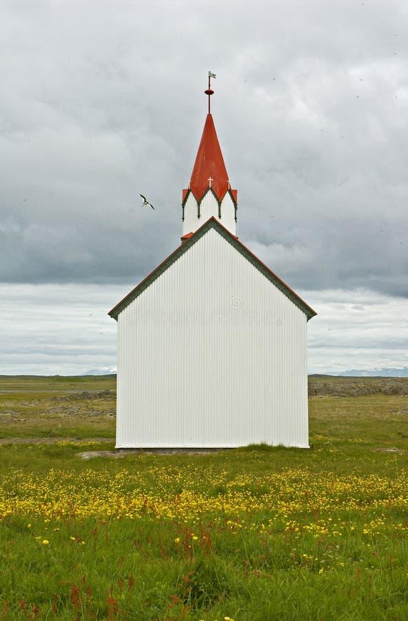 Iglesia islandesa imagenes de archivo