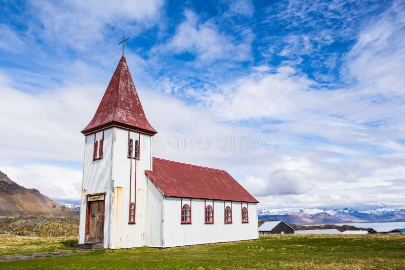 Iglesia islandesa vieja fotografía de archivo