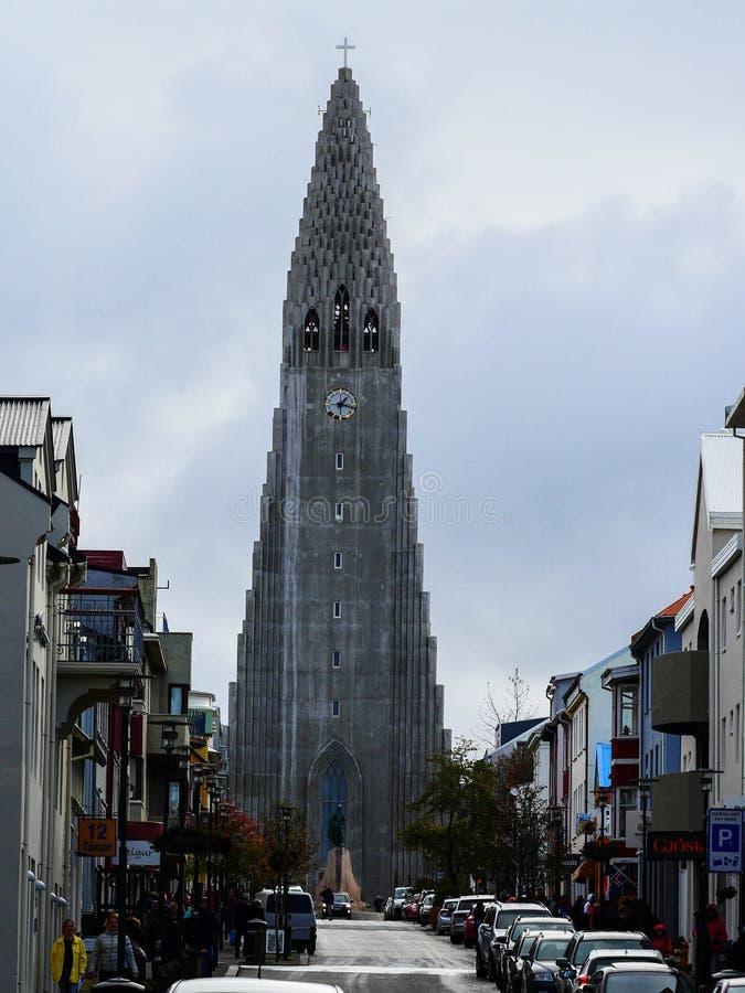 Iglesia Islandia de Hallgrimskirkja imagen de archivo libre de regalías