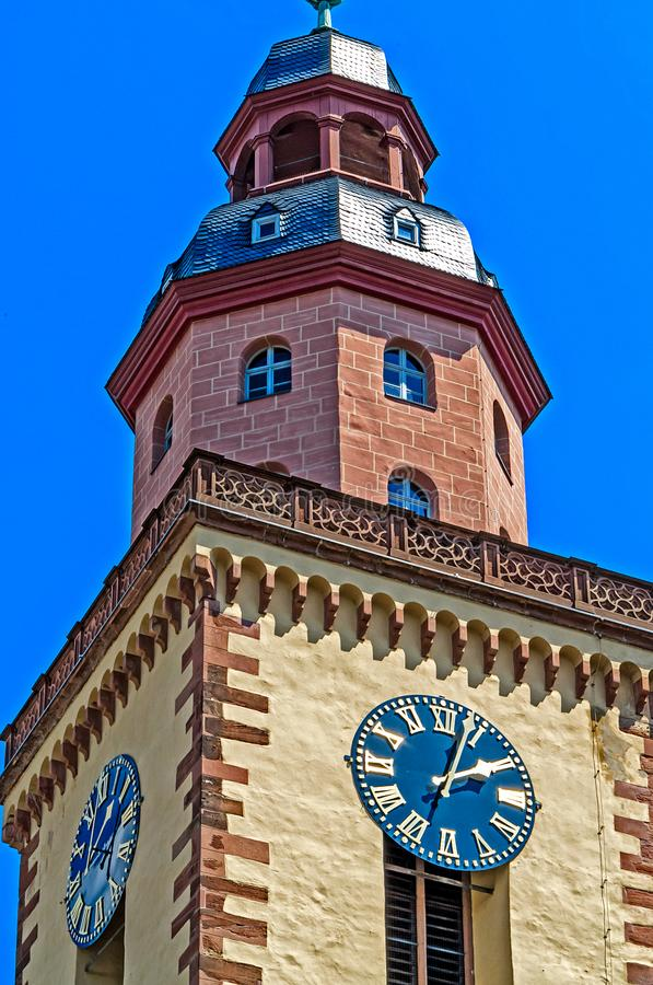 Iglesia Katharinenkirche del ` s de Catherine en Francfort, Alemania fotografía de archivo