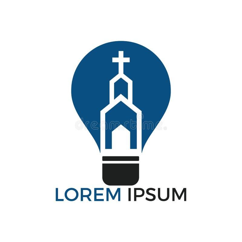 Iglesia Logo Design El ministerio Logo Design de la iglesia stock de ilustración