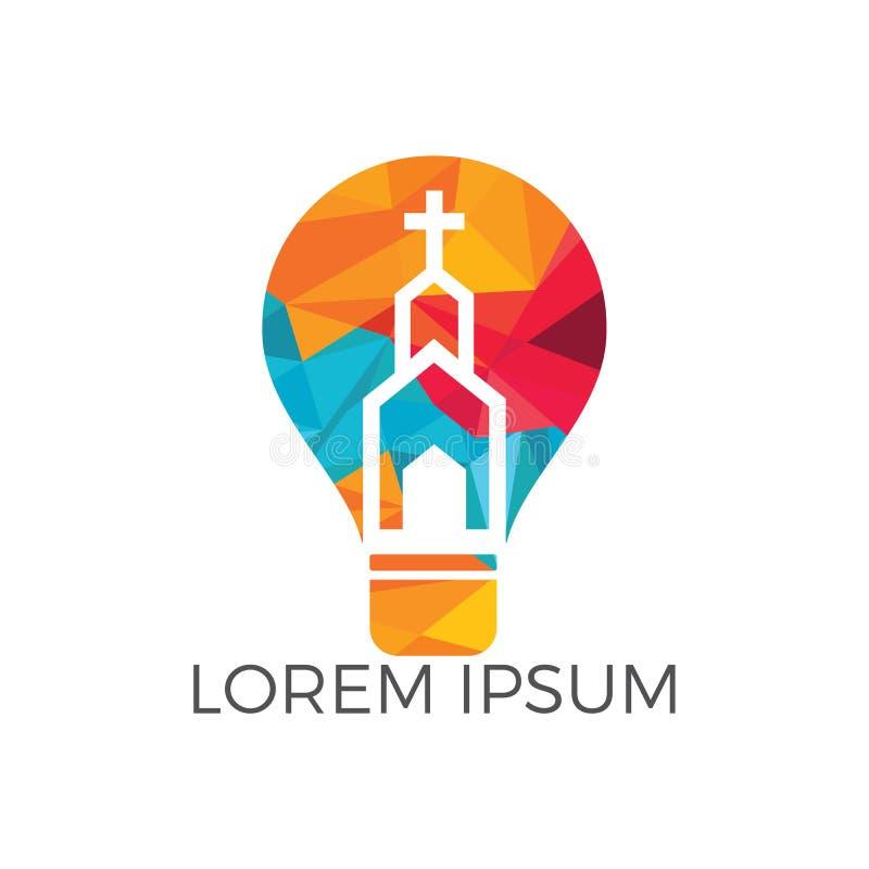 Iglesia Logo Design El ministerio Logo Design de la iglesia ilustración del vector