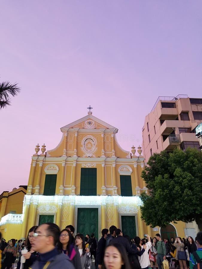 Iglesia Macao de San Pablo fotos de archivo