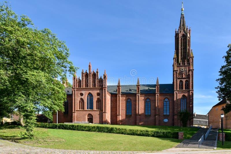 Iglesia Malchow del monasterio en el estado Mecklemburgo-Pomerania Occidental en Alemania fotos de archivo libres de regalías