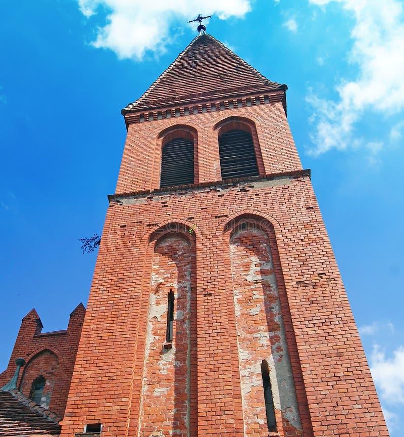 Iglesia medieval en Piaski - Grudziadz fotos de archivo libres de regalías