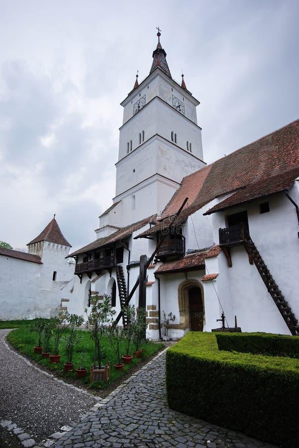 Iglesia medieval en Rumania foto de archivo libre de regalías