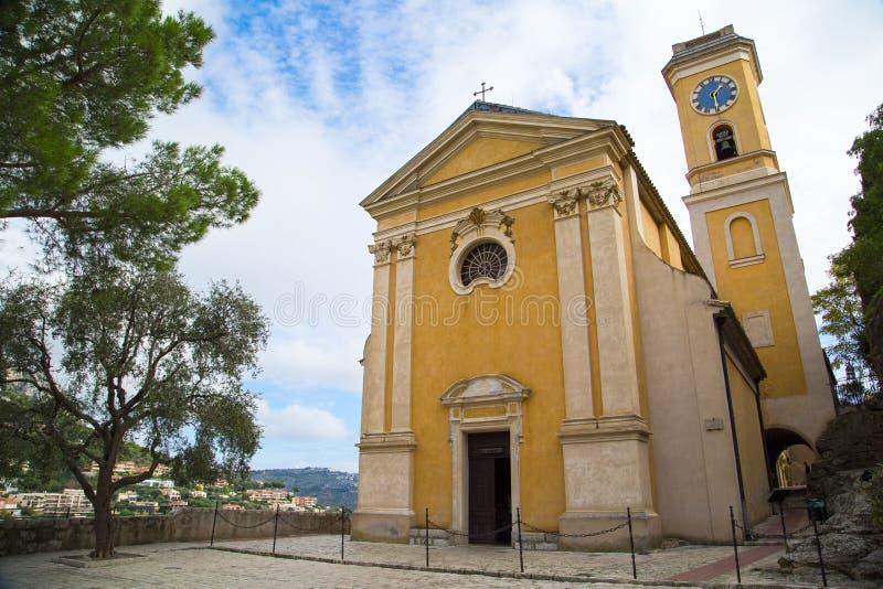Iglesia nuestra señora de la suposición en Eze, Francia fotos de archivo libres de regalías
