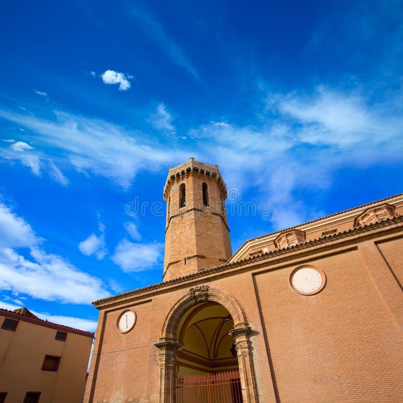 Iglesia Nuestra Senora de la Asuncion Spain de Carinena Zaragoza fotografía de archivo