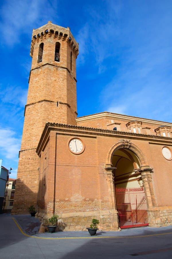 Iglesia Nuestra Senora de la Asuncion Spain de Carinena Zaragoza foto de archivo libre de regalías