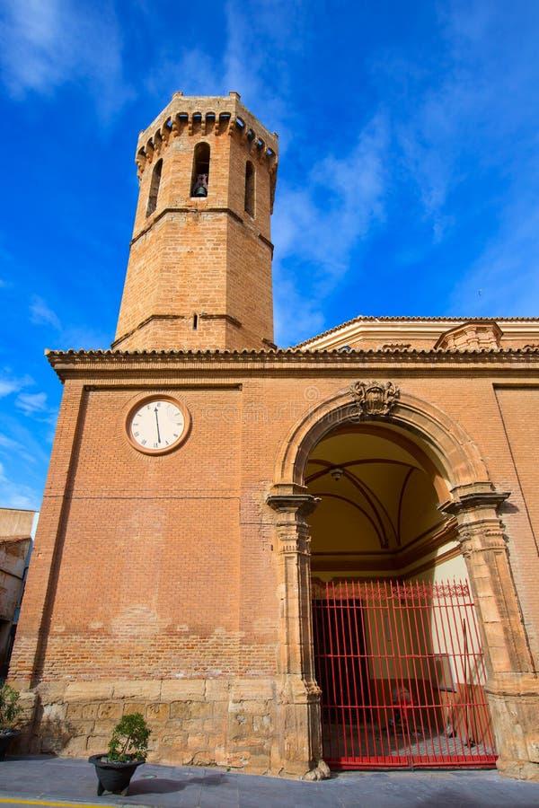 Iglesia Nuestra Senora de la Asuncion Spain de Carinena Zaragoza fotografía de archivo libre de regalías
