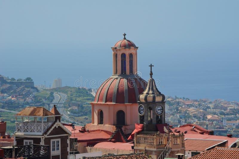 Iglesia Nuestra Senora de la Concepcion, La Orotava, Tenerife, Ilhas Canárias fotos de stock