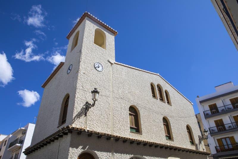Iglesia Nuestra Senora De Los Desamparados em Moraira imagens de stock royalty free