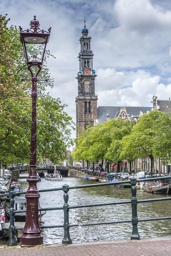 Iglesia occidental en Amsterdam, Países Bajos foto de archivo