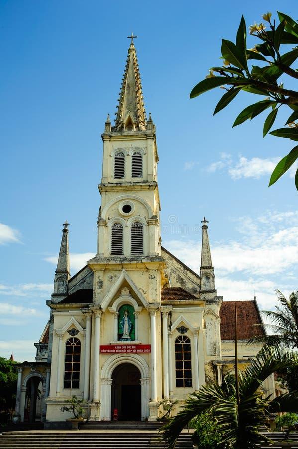 iglesia 0030-Old en la ciudad de Vinh - Nghe una provincia - Vietnam - Asia sudoriental centrales imagen de archivo libre de regalías
