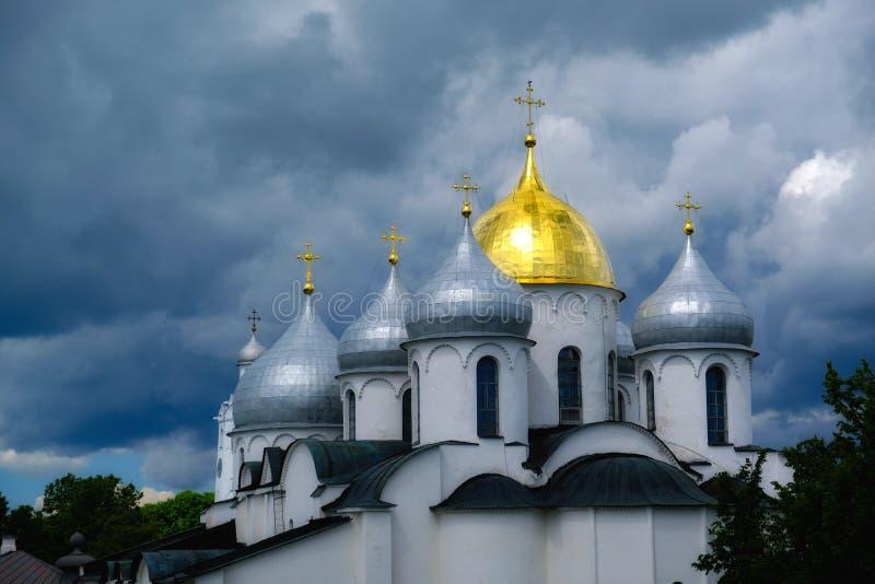 Iglesia ortodoxa antigua, Golden Dome imágenes de archivo libres de regalías