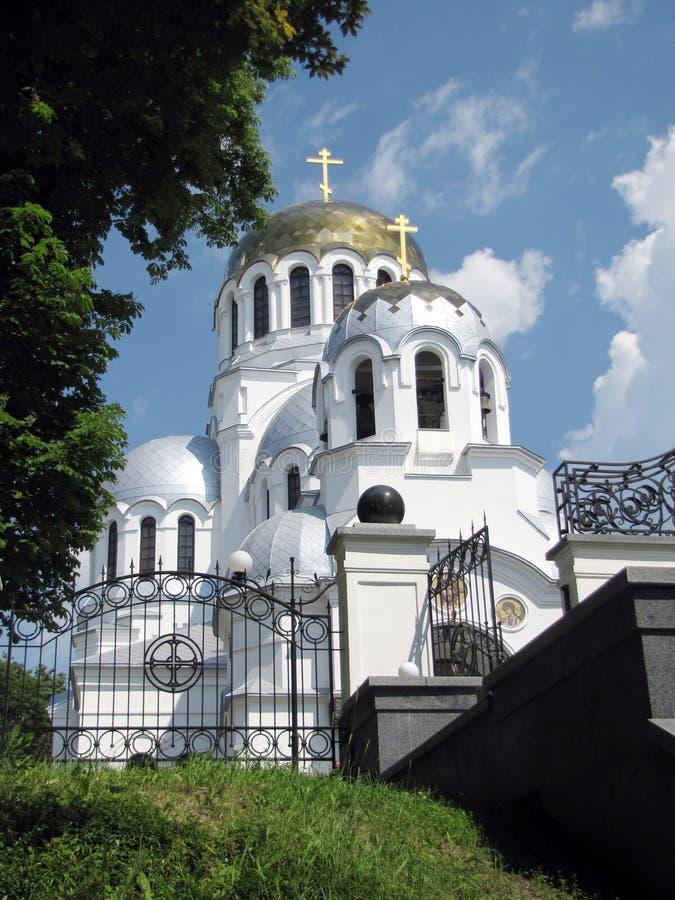 Iglesia ortodoxa de Aleksandr Nevsky en Kamenets-Podolsky fotografía de archivo