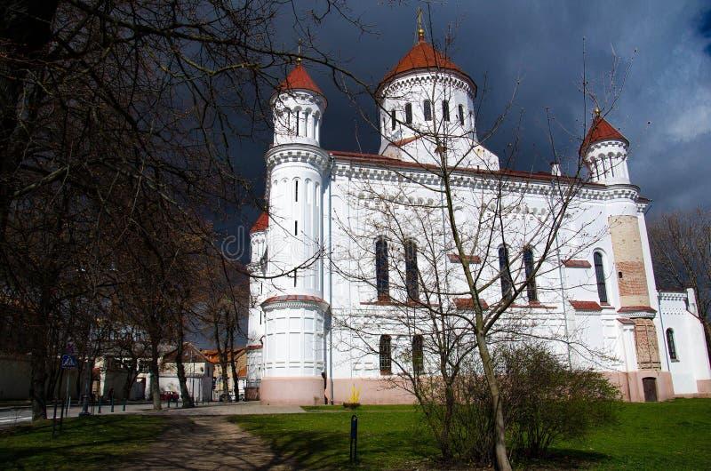 Iglesia ortodoxa de la madre santa de dios, Vilna, Lituania fotografía de archivo libre de regalías