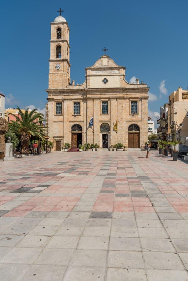 Iglesia ortodoxa de la presentación del señor en Chania fotografía de archivo