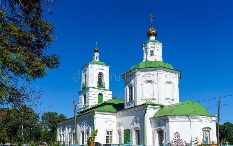 Iglesia ortodoxa del siglo XVIII en el estilo barroco, Venev, Tul foto de archivo libre de regalías