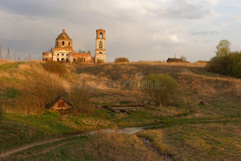 Iglesia ortodoxa destruida imagen de archivo