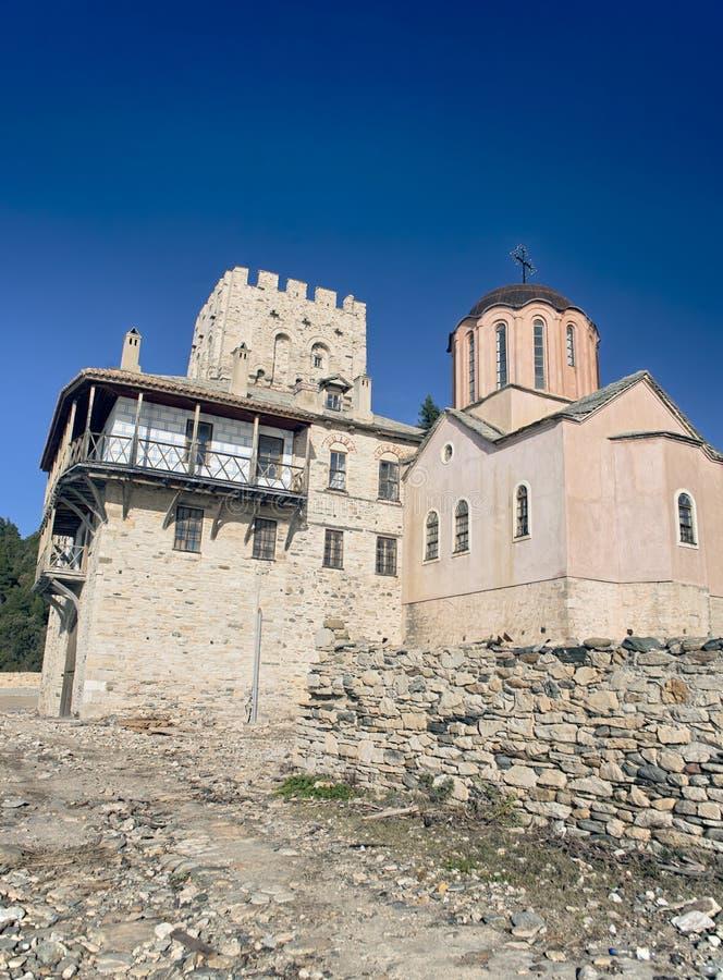 Iglesia ortodoxa en Mt Athos foto de archivo libre de regalías