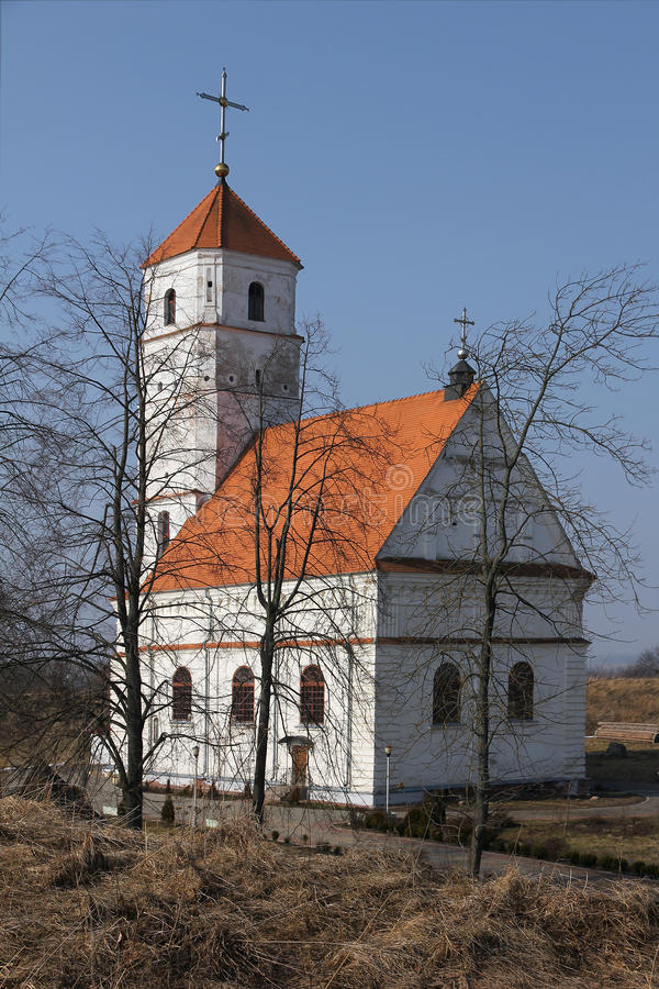 Iglesia ortodoxa en Zaslavl, Bielorrusia. fotografía de archivo libre de regalías
