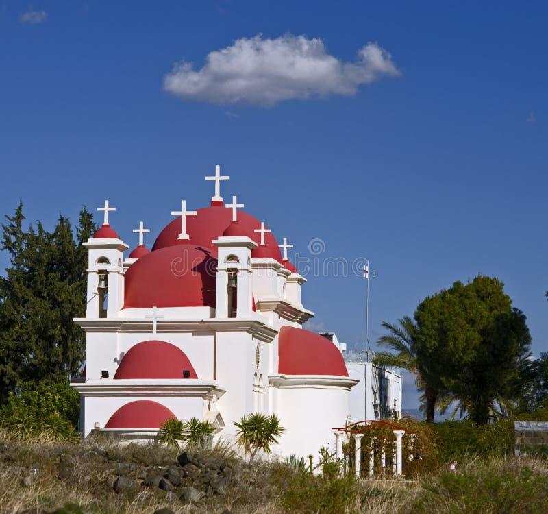 Iglesia ortodoxa griega Capernaum fotos de archivo libres de regalías