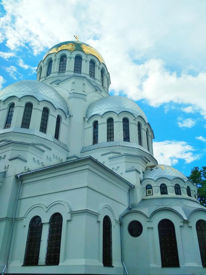 Iglesia ortodoxa, Kamenets-Podolsky, Ucrania foto de archivo
