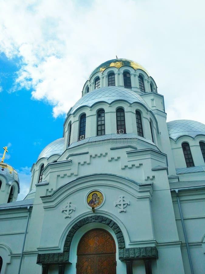 Iglesia ortodoxa, Kamenets-Podolsky, Ucrania imagenes de archivo