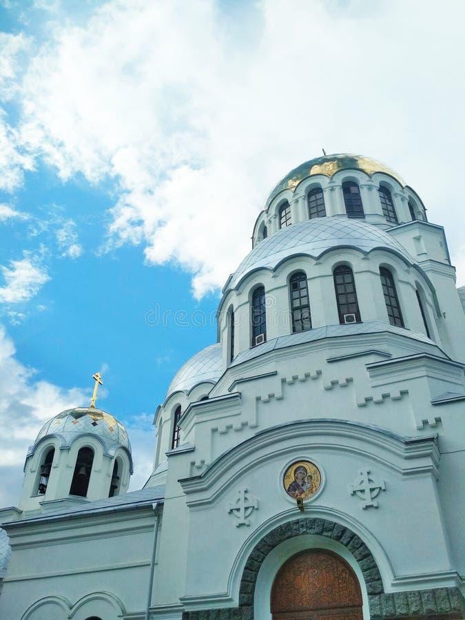 Iglesia ortodoxa, Kamenets-Podolsky, Ucrania fotografía de archivo