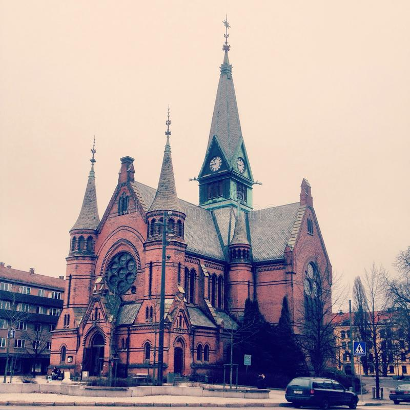 Iglesia Oslo de Sagene fotografía de archivo libre de regalías
