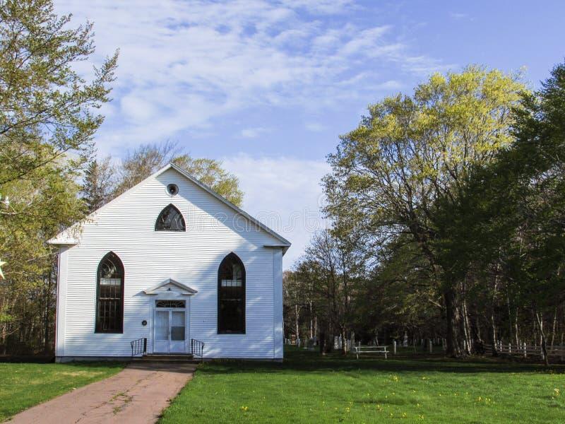Iglesia pacífica en príncipe Edward Island imagen de archivo