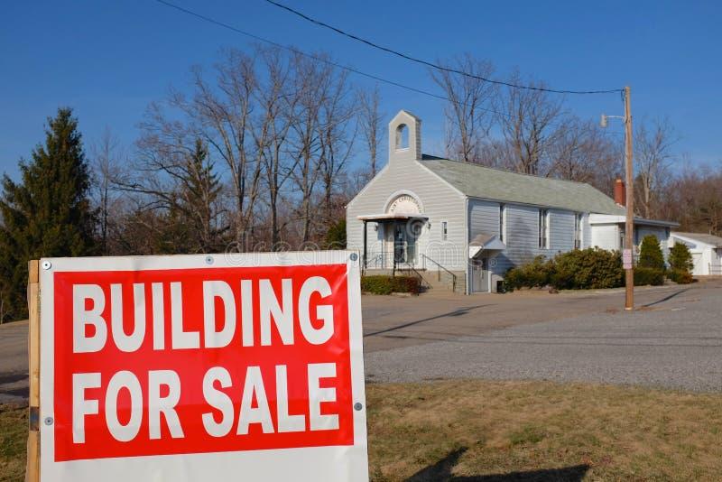 Iglesia para la venta foto de archivo libre de regalías