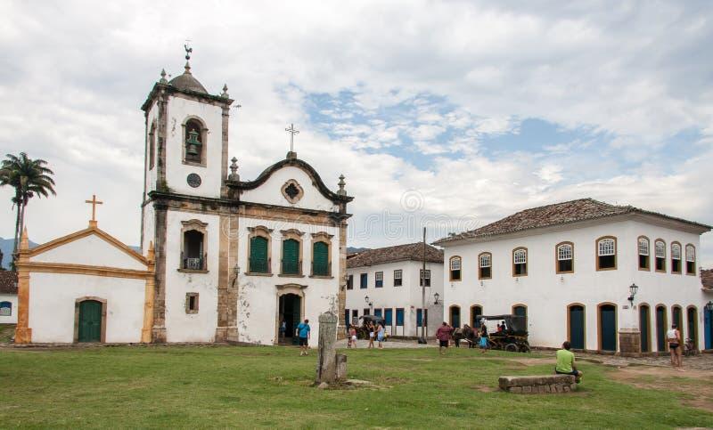 Iglesia Paraty Río de Janeiro de Santa Rita imágenes de archivo libres de regalías