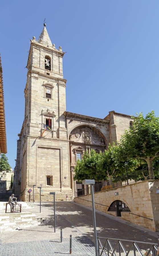 Iglesia parroquial de Asuncion de Maria en Navarrete fotografía de archivo libre de regalías