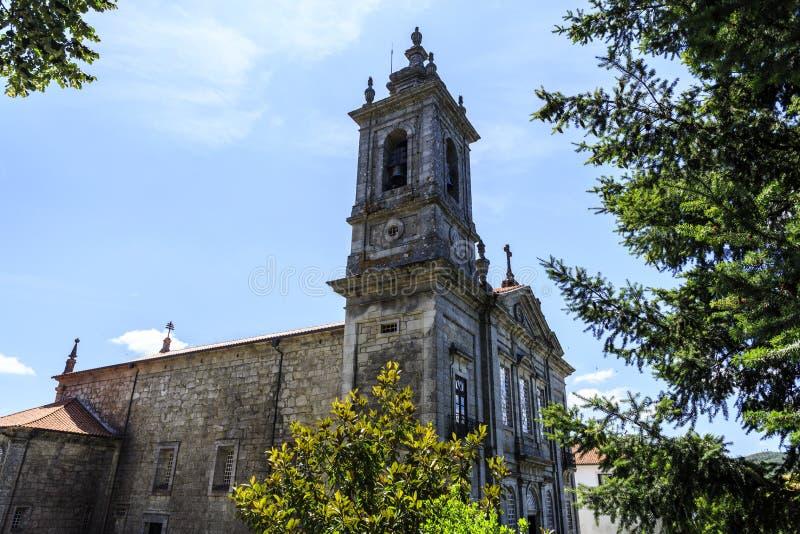 Iglesia parroquial de Castro Daire imagen de archivo libre de regalías