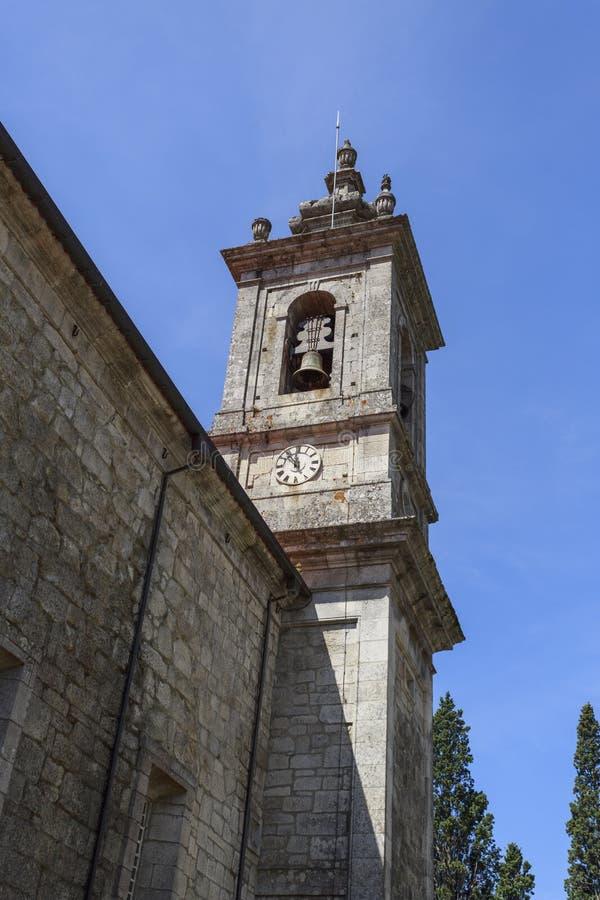 Iglesia parroquial de Castro Daire fotografía de archivo