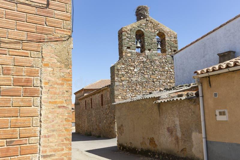 Iglesia parroquial de la Inmaculada Concepción en Fontanillas de Castro fotos de archivo libres de regalías