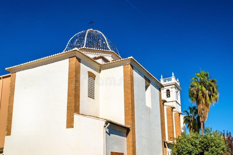 Iglesia Parroquial de Nuestra Senora av Monteolivete, en kyrka i Valencia, Spanien arkivfoto