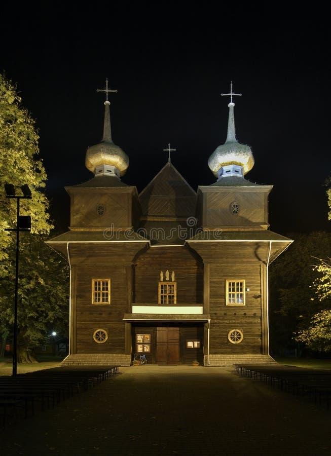 Iglesia parroquial del anuncio de la Virgen María bendecida en Tomaszow Lubelski polonia fotografía de archivo libre de regalías