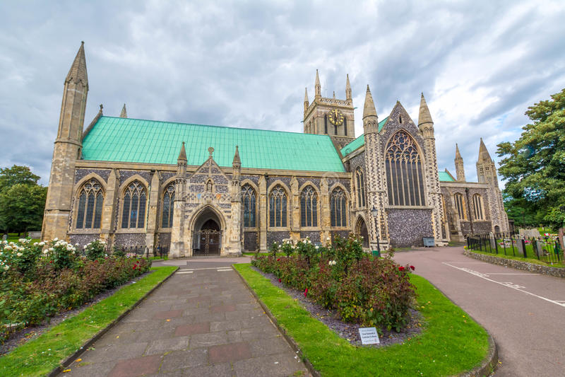 Iglesia parroquial inglesa en Great Yarmouth en Inglaterra imagen de archivo libre de regalías