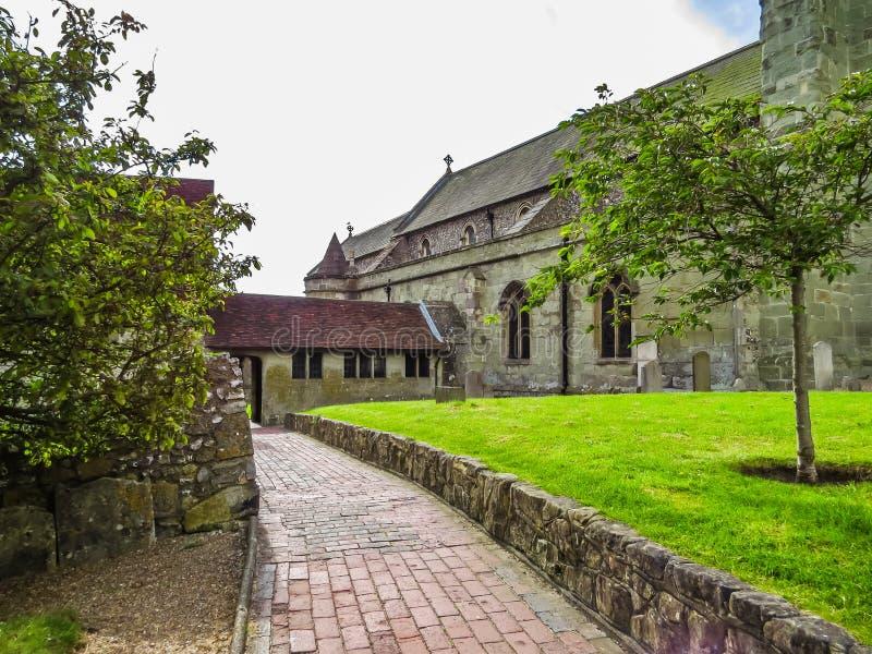 Iglesia parroquial medieval de Eastbourne imágenes de archivo libres de regalías