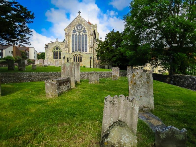 Iglesia parroquial medieval de Eastbourne imagen de archivo libre de regalías