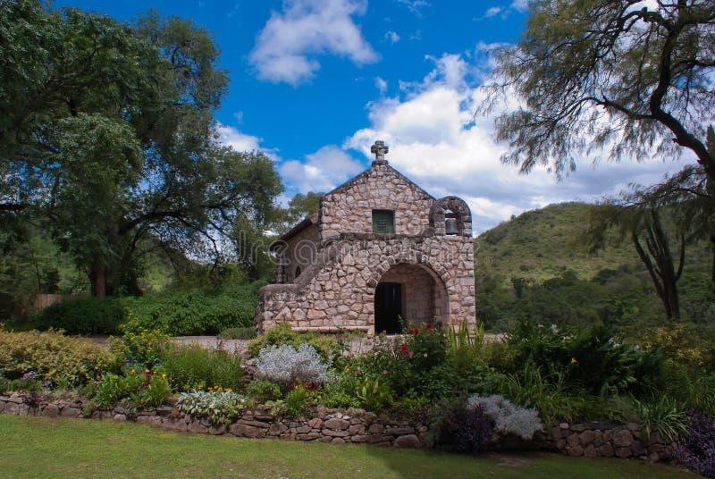 Iglesia Potrerillo de Larreta Alta Gracia fotografering för bildbyråer