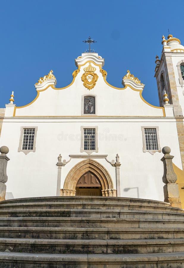 Iglesia Principal de Portimao, Portugal foto de archivo