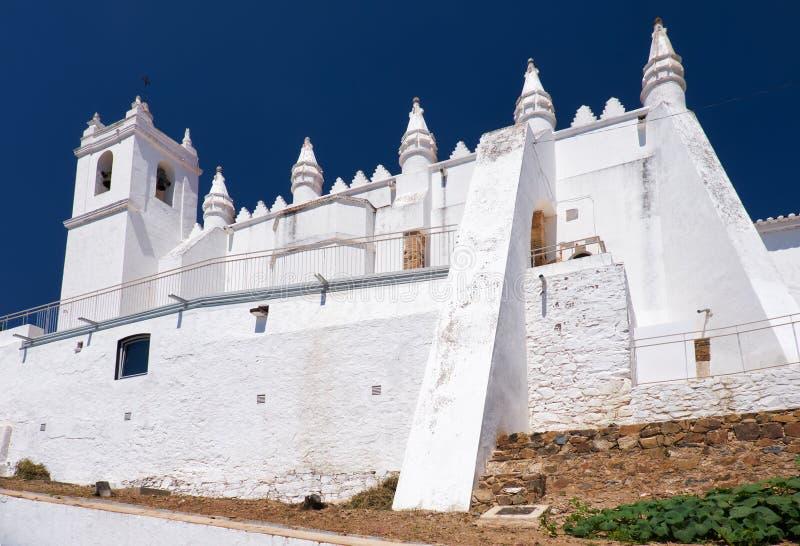 Iglesia principal - un matriz anterior de Igreja de la mezquita Mertola Al de Baixo imagen de archivo