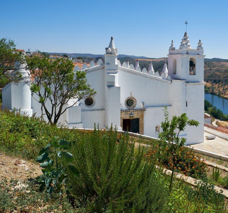 Iglesia principal - una mezquita anterior (matriz de Igreja) Mertola Baixo Alentejo portugal fotos de archivo libres de regalías