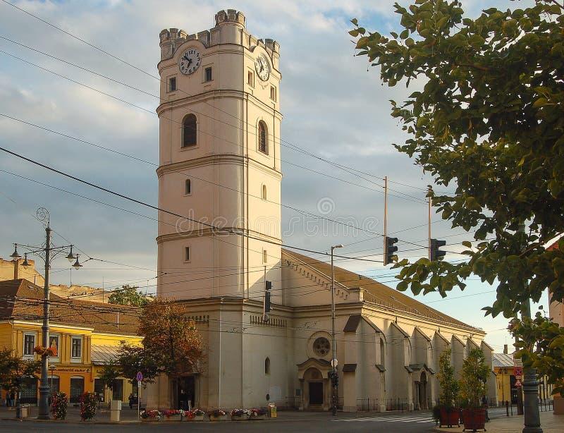 Iglesia reformada - Debrecen, Hungría imagenes de archivo