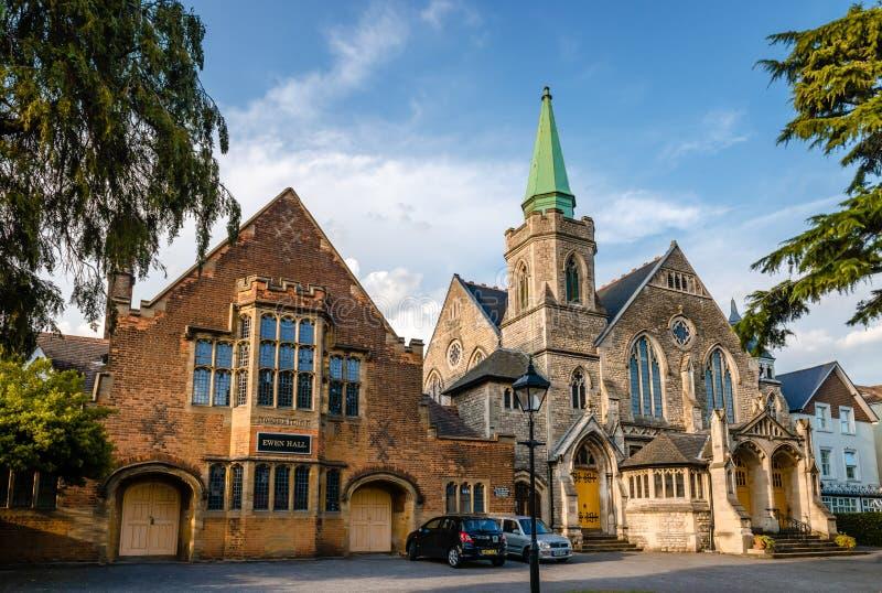 Iglesia Reformada Unida Barnet y Ewen Hall imagenes de archivo